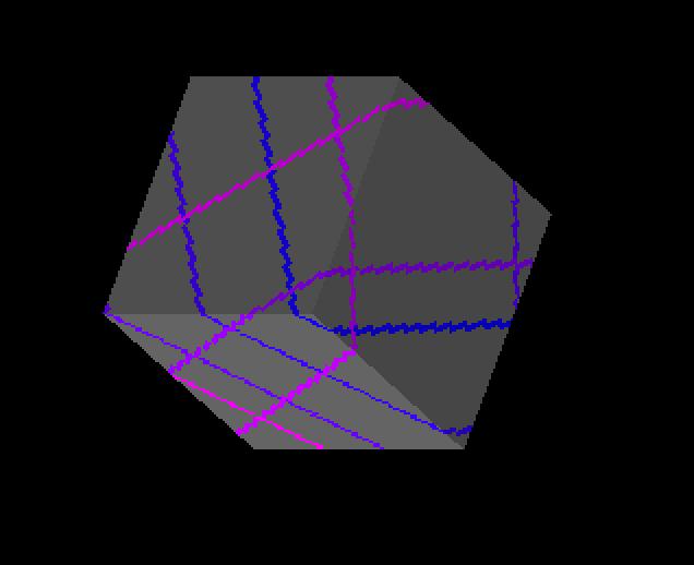 A geodesic on a cube